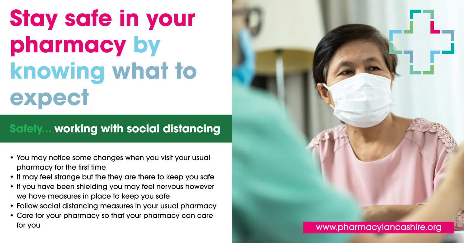DOSE Design Stay Safe In Your Pharmacy Campaign Community Pharmacy Lancashire Safely working
