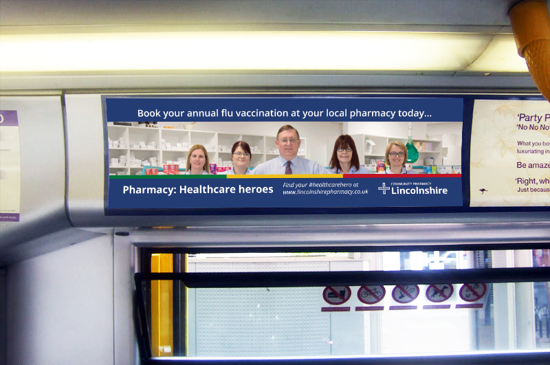 DOSE Community Pharmacy Lincolnshire Bus Headliner