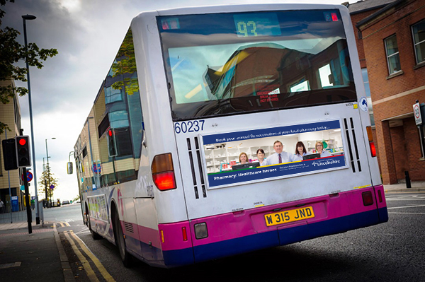 DOSE Community Pharmacy Lincolnshire Bus Rear