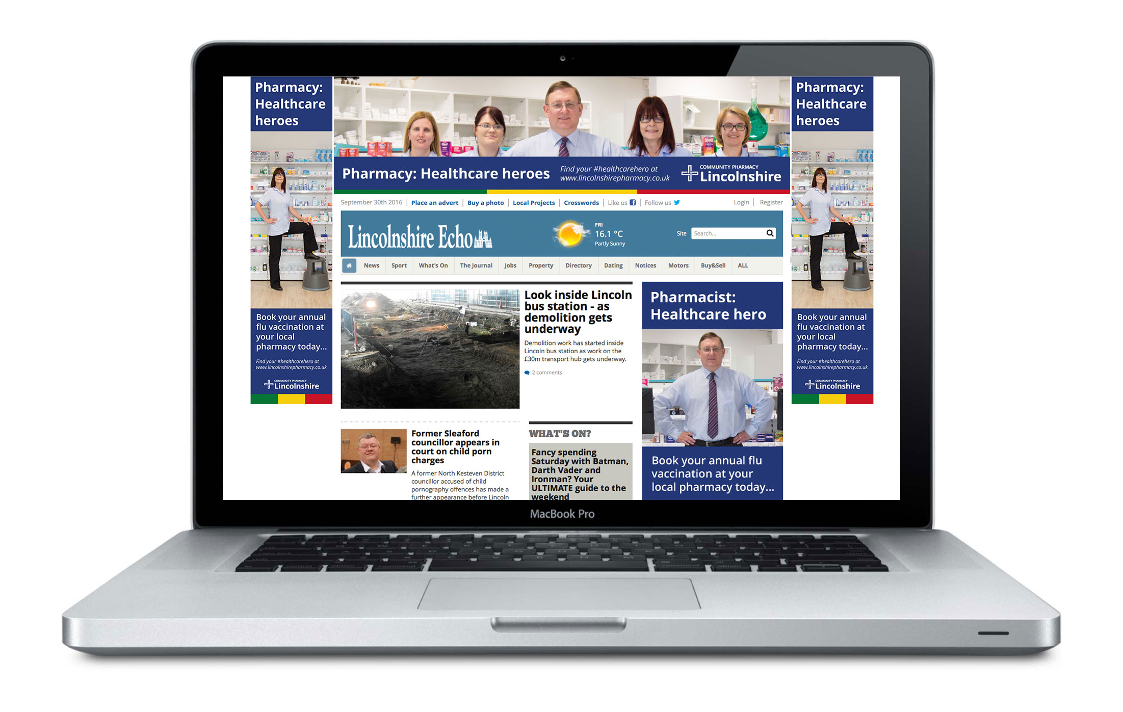 DOSE Community Pharmacy Lincolnshire Home Page Takeover
