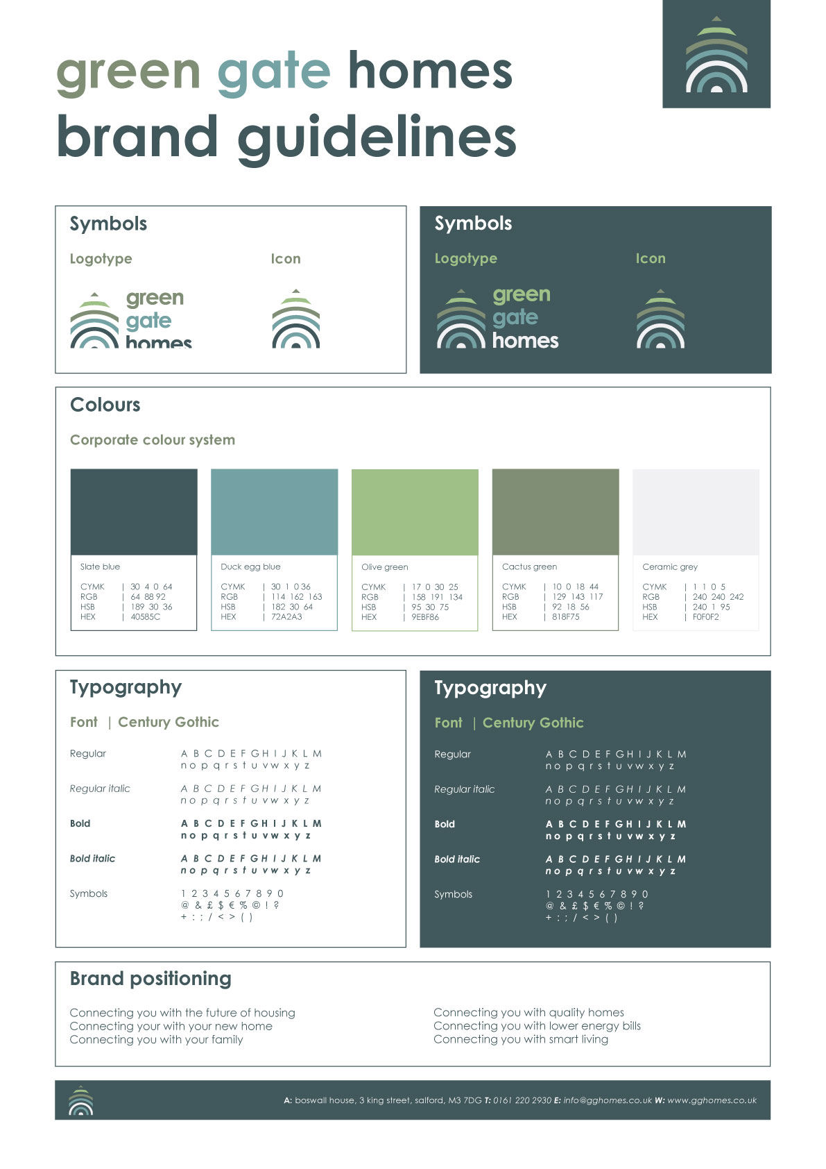 DOSE Design and Marketing Green Gate Homes Brand Guidelines