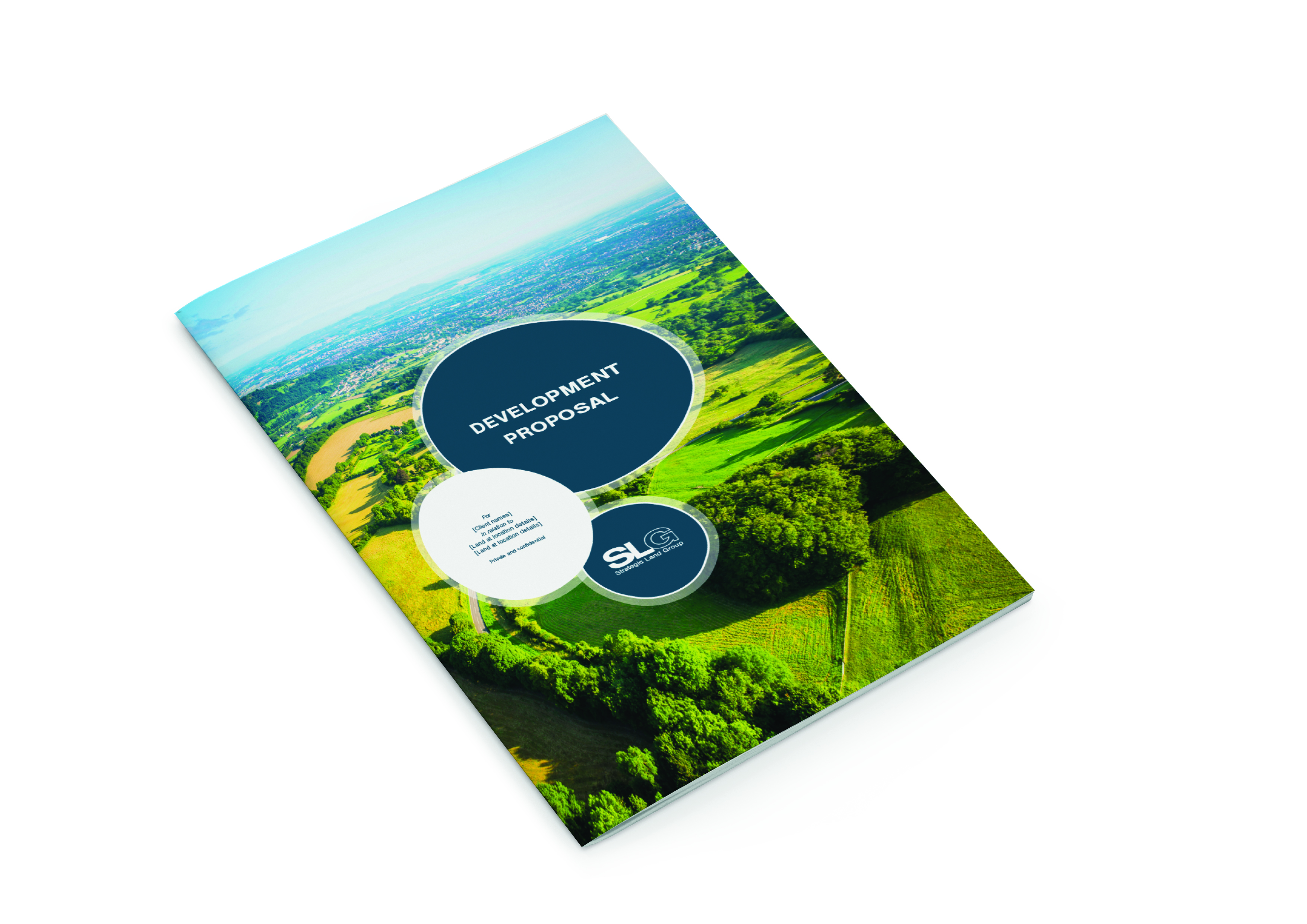 DOSE Design and Marketing Strategic Land Group Editable brochure Front