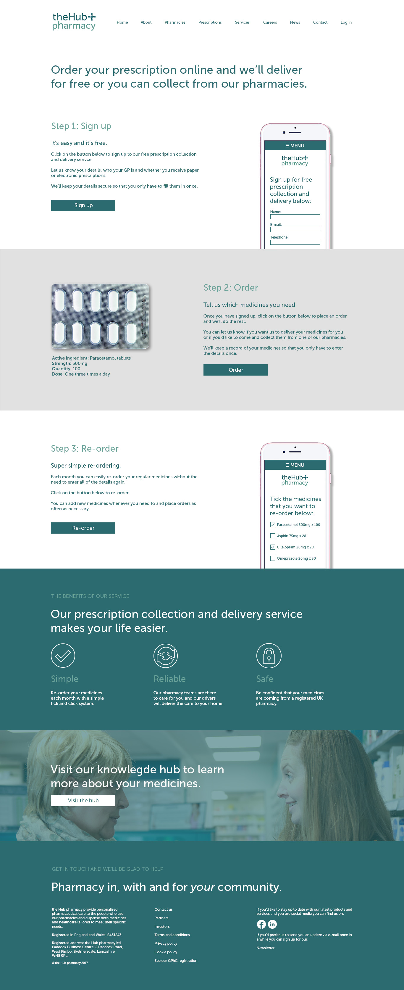 DOSE Design and Marketing the Hub pharmacy Website Prescriptions